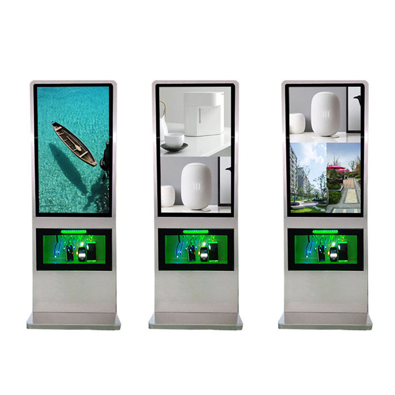 Floor Standing Lcd Advertising Display , Digital Signage Displays With Charging Function